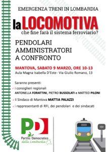 La Locomotiva a Mantova. Emergenza treni: che fine farà il sistema ferroviario?