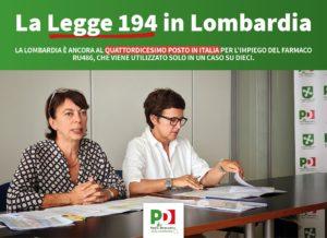 Paola Bocci e Antonella Forattini, durante la presentazione dei dati sull'attuazione della legge 194 in Lombardia