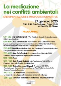 Convegno a Palazzo Pirelli, sala Gonfalone, lunedì 27 gennaio